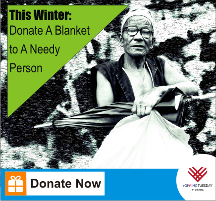 this winter donate a blanket to a needy person